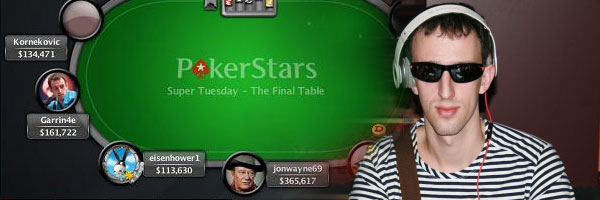 Гарик Ярошевский - пятый на PokerStars Super Tuesday